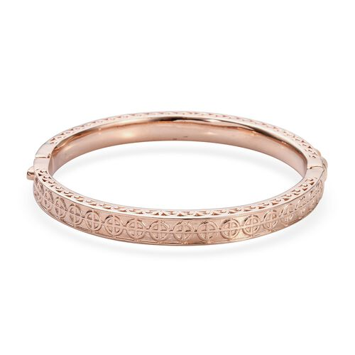 Freshwater Pink Pearl Bangle (Size 7.5) in Rose Gold Tone