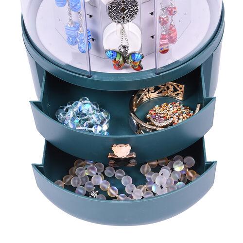 New Concept- 360 Degree Rotataing Swivel Jewellery Organizer (30x20cm) - Green