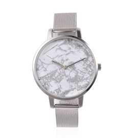 STRADA Stainless Steel Marble Effect  Japanese Movement Watch