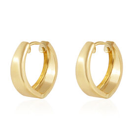 9K Yellow Gold Hoop Earrings (with Clasp) Gold Wt. 1.38 Grams
