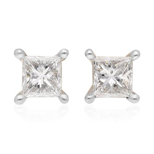 ILIANA 18K Yellow Gold SGL Certified Diamond (SI/G-H) Stud Earrings (with Screw Back) 0.20 Ct.