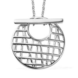 Sundays Child- Platinum Overlay Sterling Silver Detachable Pendant with Chain (Size 20)