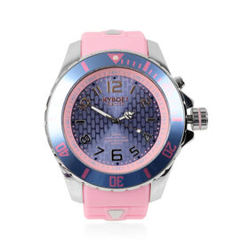 KYBOE Japanese Movement 100M Water Resistant Silver Candy LED Watch in Stainless Steel with Rotating