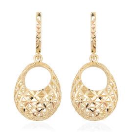 JCK Vegas Diamond Cut Creole Hoop Earrings in 9K Gold 5.03 grams