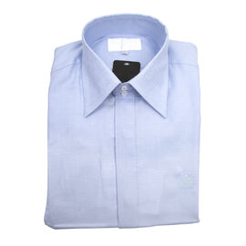 William Hunt - Saville Row Forward Point Collar Light Blue Shirt (Size 15.5)