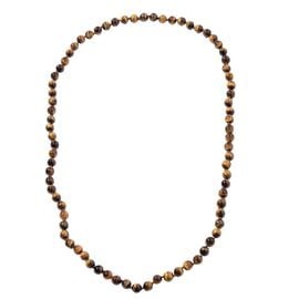 Yellow Tiger Eye (Rnd 9-11mm) Beads Necklace (Size 36) 591.50 Ct.