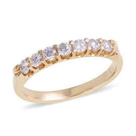 New York Close Out 0.50 Ct Diamond 7 Stone Ring in 14K Gold