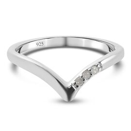 Diamond Band Ring in Platinum Overlay Sterling Silver