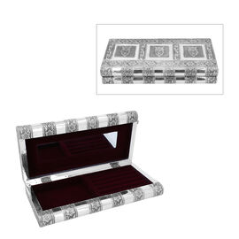 Owl Embossed Jewellery Storage Box with Purple Velvet Lining (Size 27x13x5 Cm)