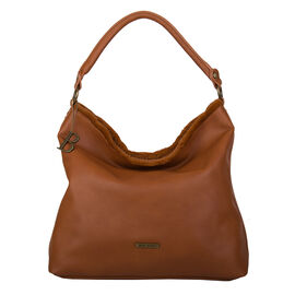 Bulaggi Collection- Jacinta Hobo Shoulder Bag (Size 34x34x14 Cm) - Tan