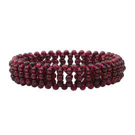 Rhodolite Garnet (Rnd) Bead Bracelet (Size 7 Stretchable)  90.000  Ct.