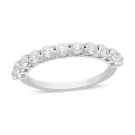 ILIANA 18K White Gold IGI Certified Diamond (SI/G-H) Ring 1.000  Ct.