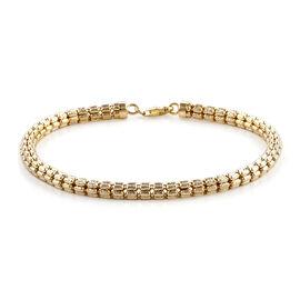 Royal Bali Collection - 9K Yellow Gold Bracelet (Size 7.5), Gold wt 7.79 Gms