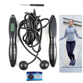 Electronic Counting Skipping Rope in Black