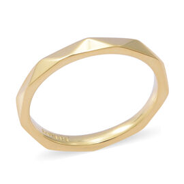Yellow Gold Overlay Sterling Silver Band Ring