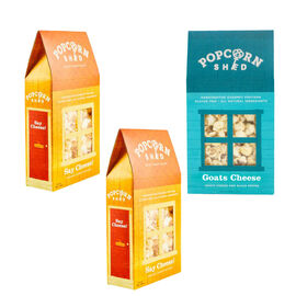 POPCORN SHED: 3-shed Gourmet Popcorn Selection Pack (Cheese Lovers)