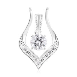 Set of 2 - J Francis Sterling Silver Pendant Made with SWAROVSKI ZIRCONIA