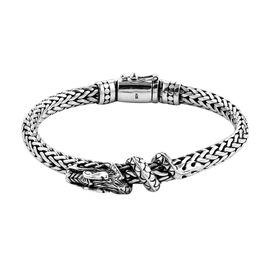 Royal Bali Tulang Naga Bracelet in Silver 48.30 grams 7.75 Inch