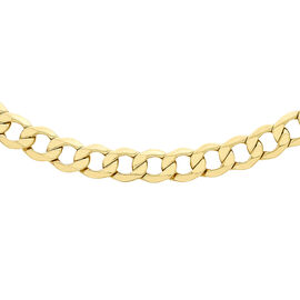 Super Find- One Time Close Out Italian Made 9K Yellow Gold Curb Necklace (Size 20) with Lobster Clas