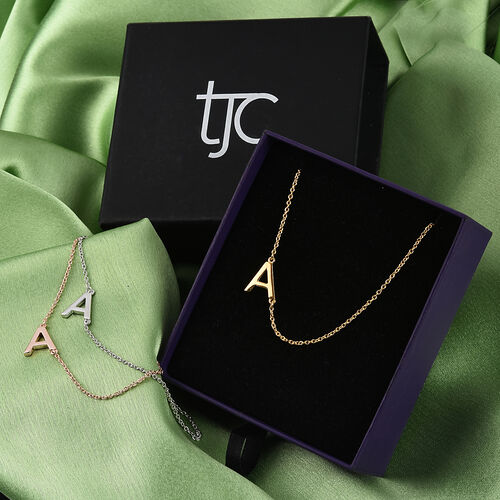 Personalise Sideways Initial Necklace