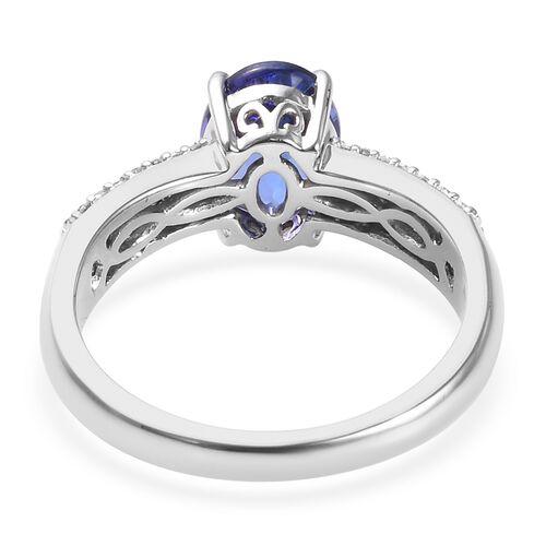 RHAPSODY 950 Platinum AAAA Tanzanite (Ovl), Diamond (VS/E-F) Ring 2.01 Ct, Platinum wt 5.50 Gms