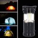 3 in 1 Flame Lantern with white LED Light, Flame Light and Flashlight (3xAA Battery Not Included) (Size 9x14.5 Cm) - Black