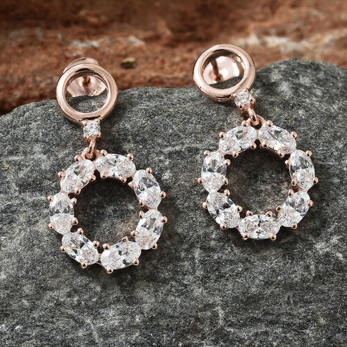 Swarovski Zirconia (3.00 Ct) Sterling Silver Earring  3.000  Ct.