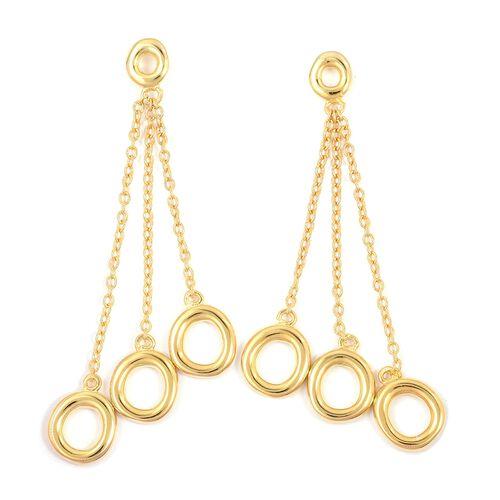 RACHEL GALLEY Dangle Earrings in Gold Plated Silver 6.42 grams