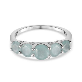 Grandidierite Ring in Platinum Overlay Sterling Silver 1.00 Cts