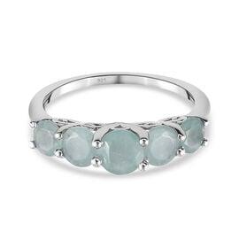 Grandidierite Ring in Platinum Overlay Sterling Silver