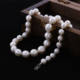 Collectors Edition- 950 Platinum AAAA White South Sea Pearl Necklace (Size 20)