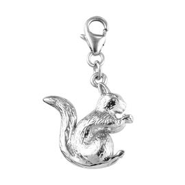 Platinum Overlay Sterling Silver Squirrel Charm 4.67 Gms