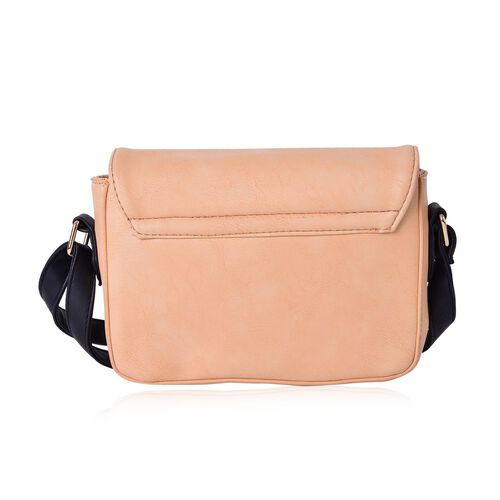 Dusky Pink Colour Fancy Bow Crossbody Bag With Adjustable Shoulder Strap (Size 20x15x7 Cm)