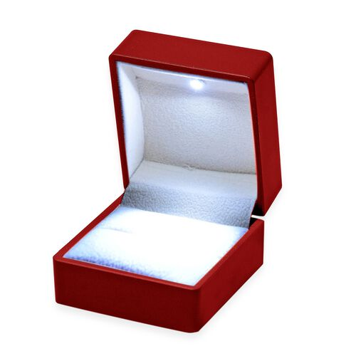 Exclusively Designed Luxurious Earring Box with LED Light in Solid Red Colour Size 6.3x6x5 Cm