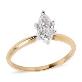 0.75 Ct Diamond Ring in 14K White Gold 2.03 Grams EGL Certified