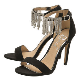 Ravel Black Pomona Embellished Heeled Sandals