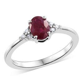 RHAPSODY 950 Platinum AAAA Burmese Ruby (Ovl), Diamond (VS/E-F) Ring 1.000 Ct.