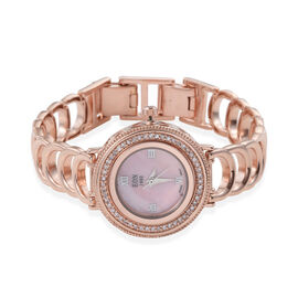 Limited Edition - EON 1962 Natural Pink Diamond Swiss Movement Sapphire Glass Watch (Size 6.5 to 8.5
