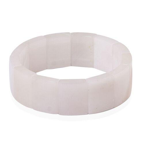 White Quartzite Stretchable Bracelet (Size 6.5 to 9) 303.000 Ct.