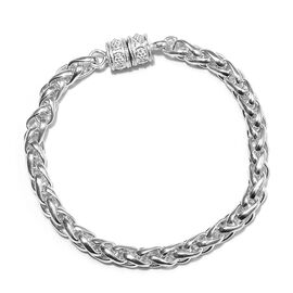 SPIGA Chain Bracelet with Magnetic Lock in Silver 25.03 Grams 7.5 Inch