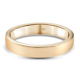 9K Yellow Gold  in Rhodium Overlay Band Ring,  Gold Wt. 2.35 Gms