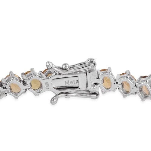 Marialite (Ovl) Bracelet (Size 7.5) in Platinum Overlay Sterling Silver 12.000 Ct. Silver wt 12.30 Gms.