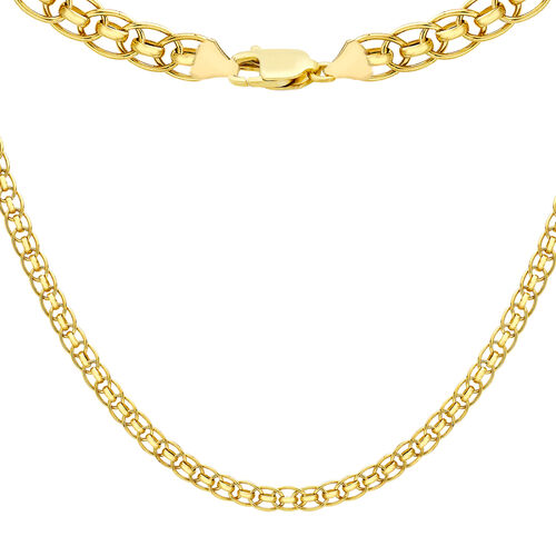 9K Yellow Gold Fancy Chain (Size 20), Gold wt 9.60 Gms