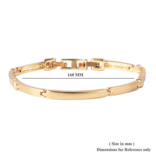 Link Bracelet (Size 7) in Yellow Gold Tone