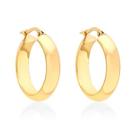 Italian Made- 9K Yellow Gold Creole Earrings Gold Wt 1.80 Grams