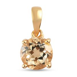 Citrine Pendant in 14K Gold Overlay Sterling Silver 0.64 ct  0.638  Ct.