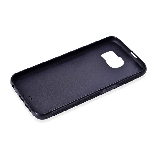 Antigravity Samsung Phone Cover Black and Toughened Membrane (Size 14.5x7 Cm)