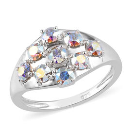 J Francis Crystal from Swarovski AB Crystal Ring in Sterling Silver
