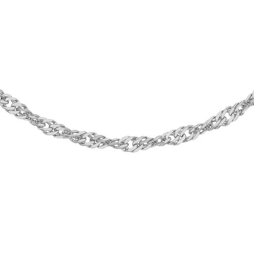Close Out Deal RHAPSODY Twisted Curb 18 Inch Chain in 950 Platinum 1.80 grams