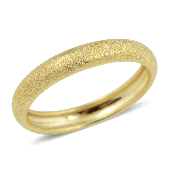 Italian Made - 9K Yellow Gold Stackable Band Ring